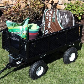 Sunnydaze Heavy Duty Dumping Utility Cart Liner ONLY - Options (Option: Black)