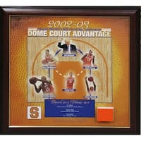 20022003 Syracuse University Dome Court Advantage Framed Collage w Authentic Pc of Carrier Dome Cou