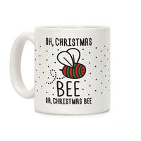 Oh, Christmas Bee White 11 Ounce Ceramic Coffee Mug by LookHUMAN