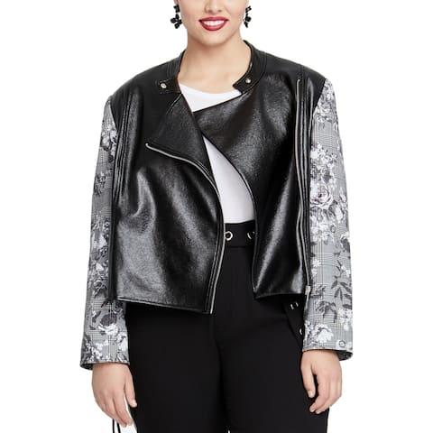 Rachel Rachel Roy Women's Charlie Jacket Black Size 1X Plus Full-Zip