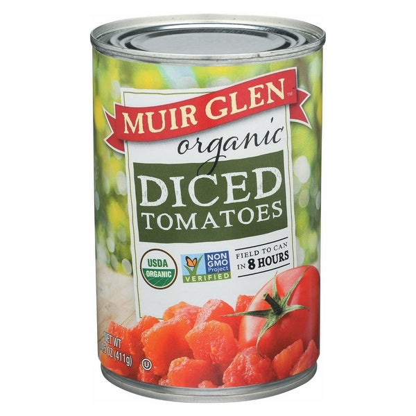 Muir Glen Organic Tomatoes, Diced - Tomatoes - Case of 12 - 14.5 oz.