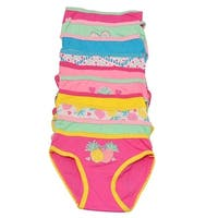 Sweet n Sassy Girls Multi Pineapple Print 10 Pc Underwear Pack
