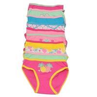 Sweet n Sassy Little Girls Multi Pineapple Print 10 Pc Underwear Pack
