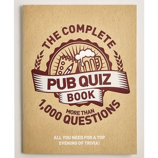 Children's The Complete Pub Quiz Pack - Over 1000 Trivia Party Questions - brown