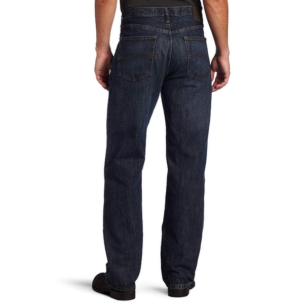 LEE Fleece Lined Mens 36x30 Blue Relaxed Straight Leg Jeans  New