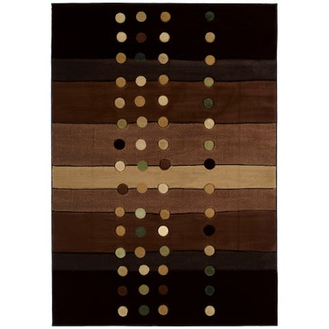 """Westfield Home Sculptures Louisa Chocolate Hand Carved Accent Rug - 1'10"""" x 2'6"""""""