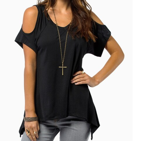 Cold Shoulder Tunic in 4 Colors - Plus Sizes Too