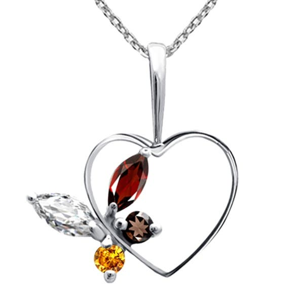 Orchid Jewelry 21 Ct Brown Smoky Quartz 925 Sterling Silver Solitaire Pendant Birthday Gifts For Women