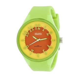 Crayo Burst Women's Quartz Watch, Silicone Strap, Luminous Hands