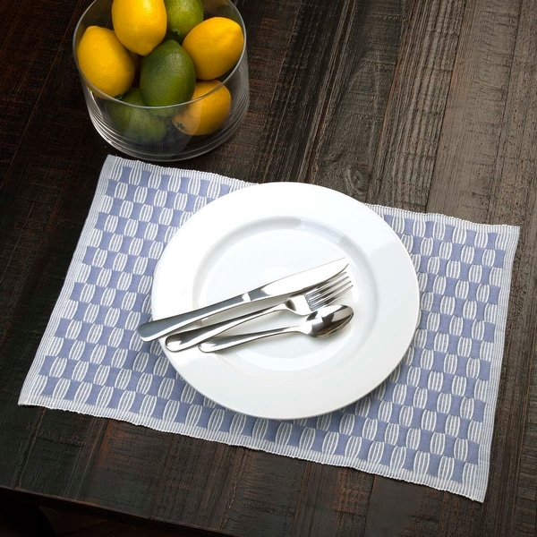 Chandler Ribbed Placemat Set of 6 12x18 - Placemat 12x18. Opens flyout.