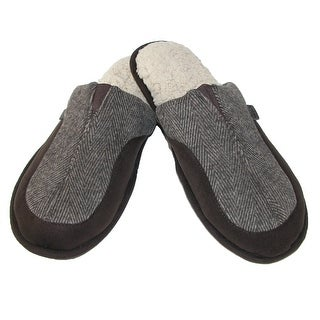 Dearfoams Men's Scuff Slippers with Memory Foam