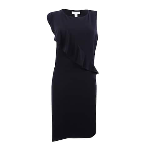 Charter Club Women's Ruffled Dress Black Size Extra Large - X-Large
