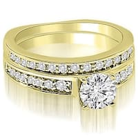 1.00 cttw. 14K Yellow Gold Round Cut Diamond Bridal Set