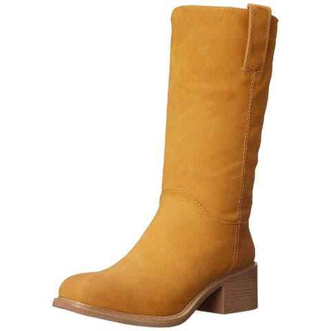 DOLCE by Mojo Moxy Womens Bounty Square Toe Mid-Calf Fashion Boots