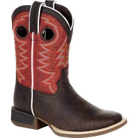 #DBT0220C, Durango® Lil' Rebel Pro Little Kid's Red Western Boot