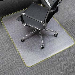 "SLYPNOS Translucent Rectangular Office Chair Mat Carpet Protector with Non-Slip Studded Backing 48"" x 30"""