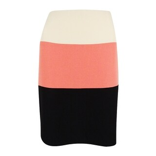 Kasper Women's Petite Amazon Colorblock Crepe Pencil Skirt