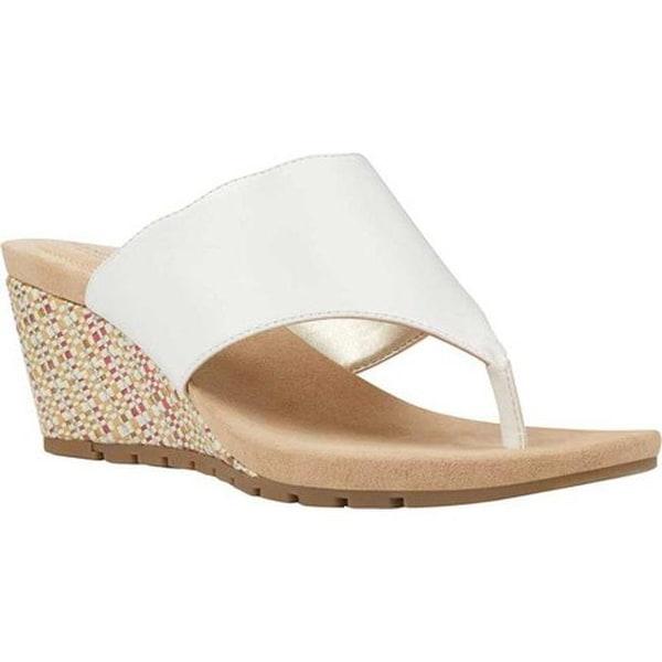 a86d8c7db3719b Shop Bandolino Women s Sarita Wedge Thong Sandal Coconut Super Nappa ...