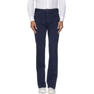 Polo Ralph Lauren Mens Navy Blue Straight Fit 5-Pocket Casual Pants