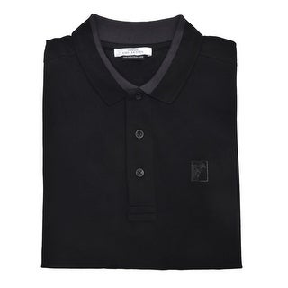 Versace Men's Cotton Medusa Logo Polo Shirt Black