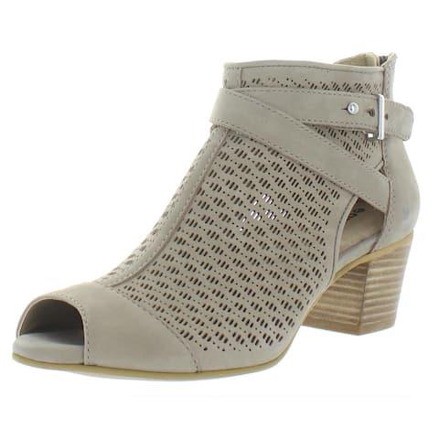 Earth Womens Leros Gaia Heel Sandals Leather Comfort - Coco Leather - 8.5 Medium (B,M)