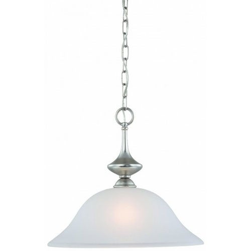 Thomas Lighting 190059117 Holly 1 Light Pendant In Matte Nickel Finish - matte nickel