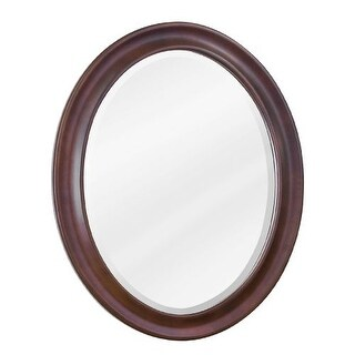 Elements MIR062 Clairemont Collection Oval 23-3/4 x 31-1/2 Inch Bathroom Vanity Mirror