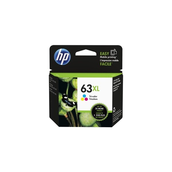 HP 63XL High Yield Tri-Color Original Ink Cartridge (F6U63AN)(Single Pack)