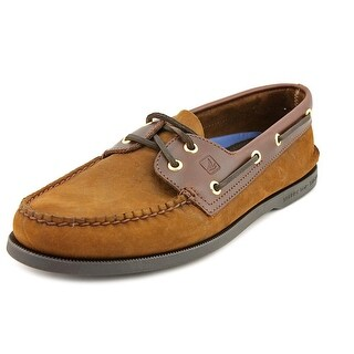 Sperry Top Sider A/O Men Moc Toe Leather Brown Boat Shoe