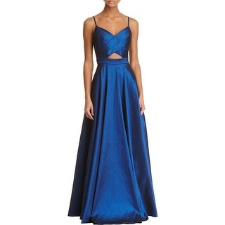 Laundry by Shelli Segal Womens Formal Dress Crossover Cut-Out