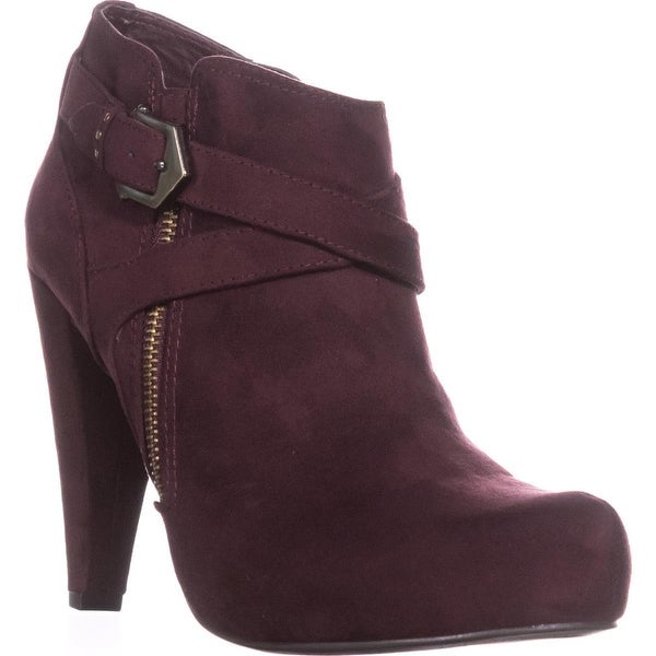G by Guess Taylin2 Closed Toe Ankle Fashion Boots, Dark Red - 8.5 us
