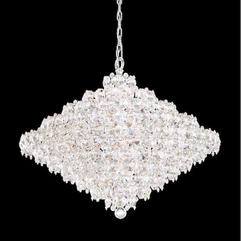 Baronet 28 Light Pendant in Stainless Steel Crystals From Swarovski - One Size