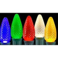 Club Faceted Transparent Multi LED C7 Christmas Replacement