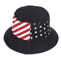 USA Stars and Stripes Reversible Bucket Hat