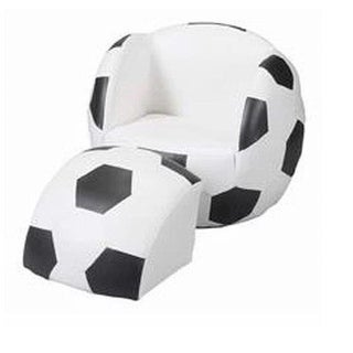 Child s Upholstered Soccer Sports Chair Chair With Ottoman
