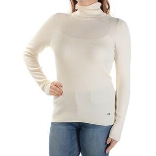 RALPH LAUREN $70 Womens New 1361 Ivory Long Sleeve Turtle Neck Casual Top M B+B