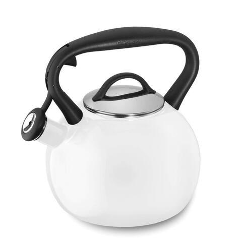 Cuisinart CTK-EOSTRW Valor Porcelain Enamel on Steel Tea Kettle, White, 2-Quart