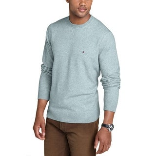 Tommy Hilfiger Lux Cotton Mens Gray Pullover Crewneck Sweater XX-Large - 2XL