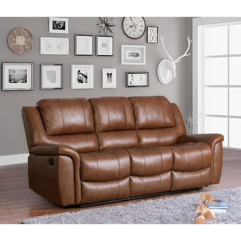 Copper Grove Forbach Top-grain Leather Reclining Sofa