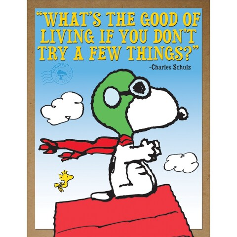 Peanuts Flying Ace Poster