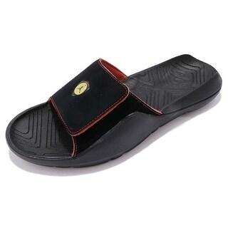 Nike Mens Jordan Hydro 7, Black/Black-Varsity Red-Dandelion, 10 D(M) Us - 10 d(m) us