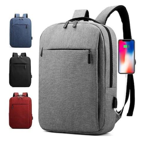 Slim Waterproof Backpack With Usb Charging Port