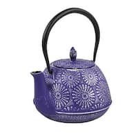 Spigo Nagano Cast Iron Enamel Infuser Teapot, Purple, 44 Ounces