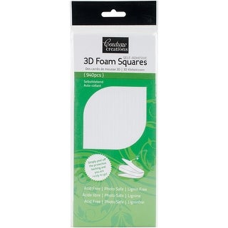 Couture Creations 3D Foam Squares 940/Pkg-White