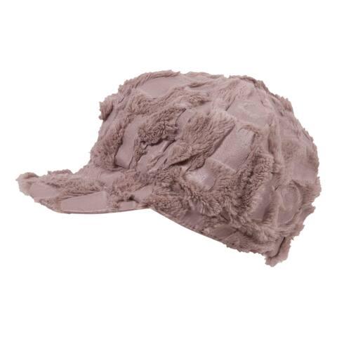 Artsy Faux Fur Newsboy Hat