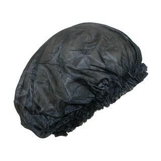 CTM® Women's Satin Jumbo Hair Roller Sleep Cap with Elastic - Black - One Size