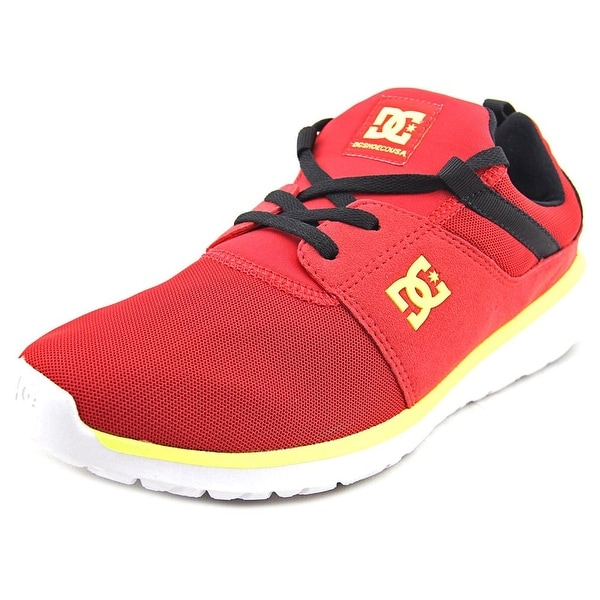 DC Shoes Heathrow Men Round Toe Canvas Red Skate Shoe