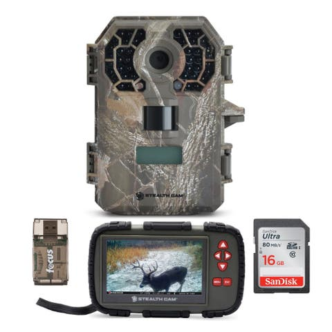Stealth Cam G42NG 10MP No-Glow Trail Camera w/ Compact Viewer Bundle