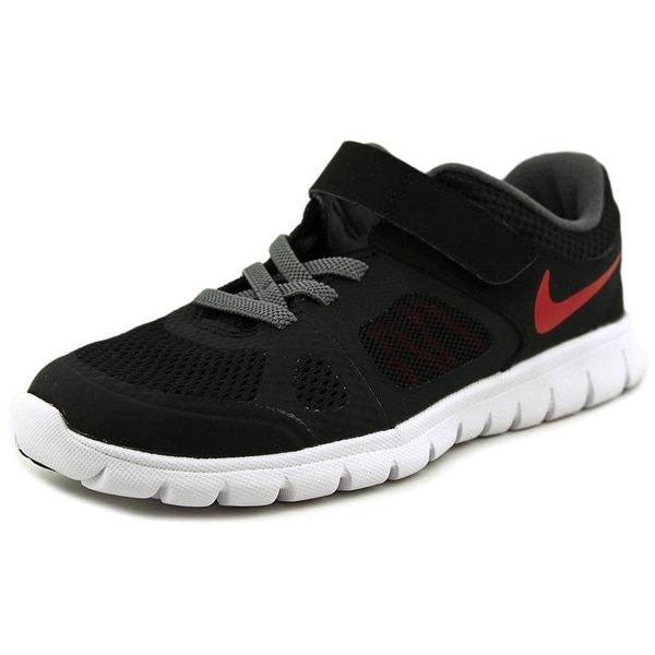 Nike Flex 2014 Rn Youth  Round Toe Canvas Black Sneakers