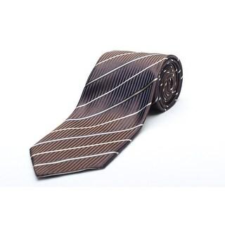 Versace Men's Silk Neck Tie N2040-0535 Brown W/ White stripes